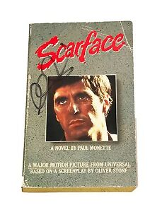AL-PACINO-SCARFACE-HAND-SIGNED-AUTOGRAPHED-BOOK-VERY-RARE-FULL-SIGNATURE