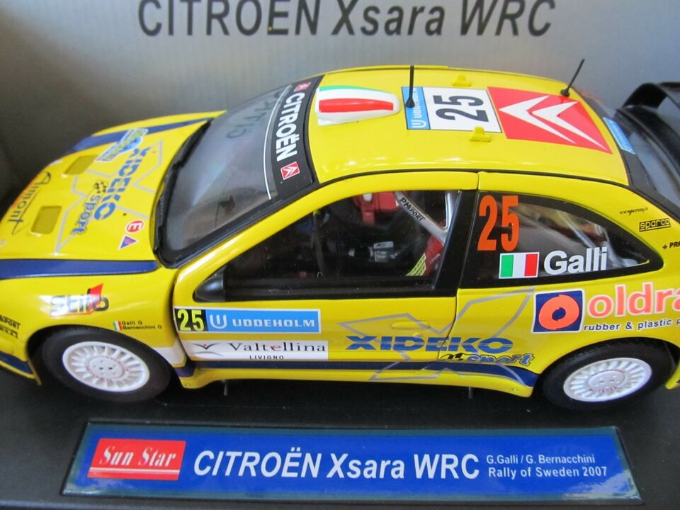 Modelbil, 2007 Citroën Xsara WRC, skala 1:18