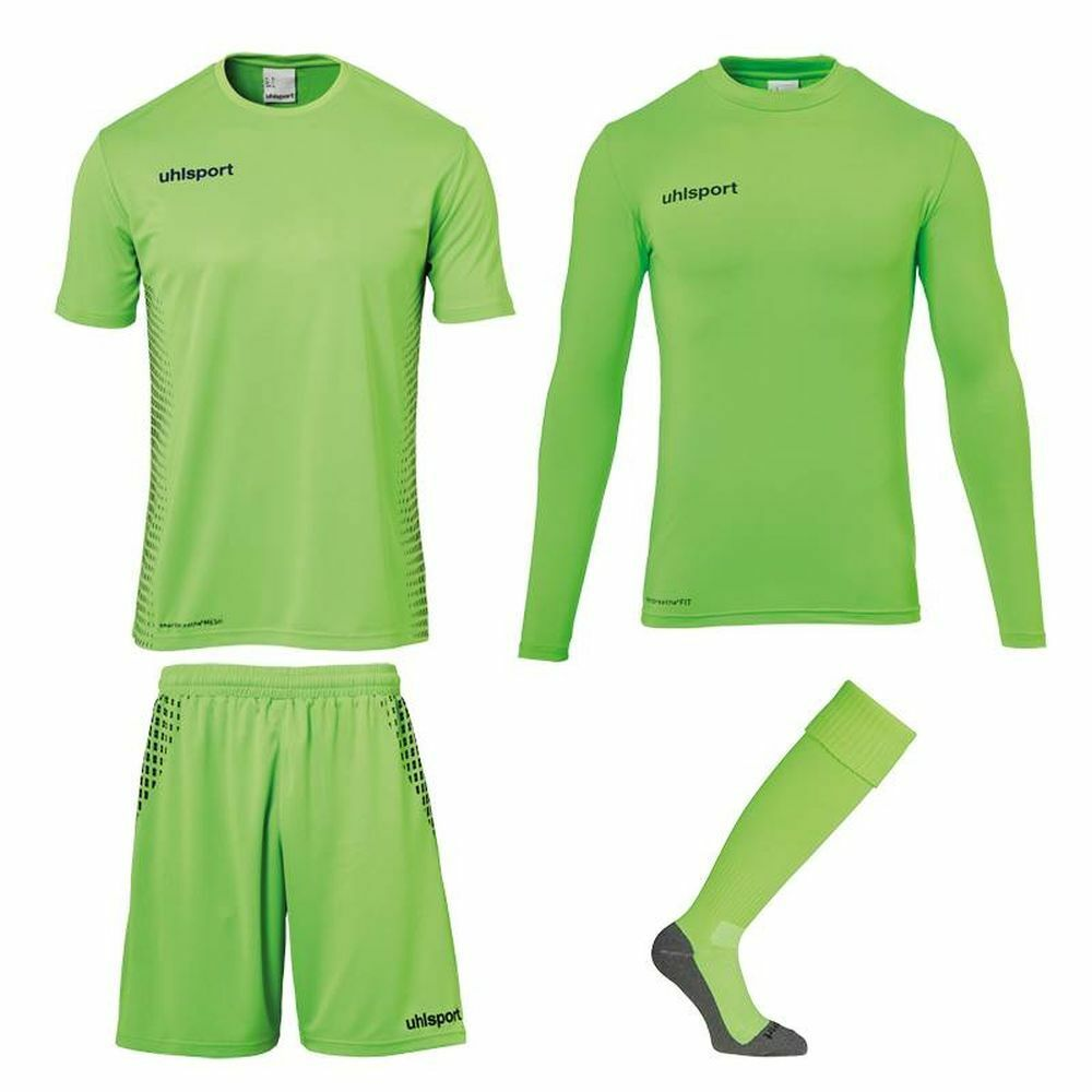 Uhlsport Score Torwart Set Herren Fußball Trikot Hose Hose Hose Baselayer Stutzen grün c10816
