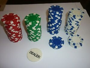 PROFESSIONAL-POKER-CHIPS-GOOD-CONDITION