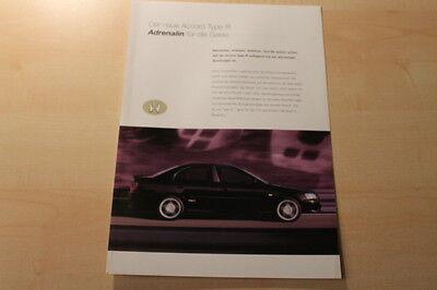 Honda Accord Type R Prospekt 03/1999 Ausreichende Versorgung Anleitungen & Handbücher Prospekte 66458