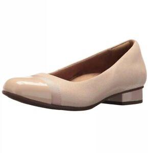 Clarks Womens Keesha Rosa Slip On Pumps Nude 5 1/2 Shoes