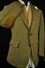 "Vtg DAKS Harris Tweed Tailored Hacking Hunting Jacket 44"" Short #208 SUPERB"