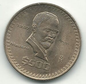 Image Is Loading High Grade Au Unc 1987 Mexico Mexican 500