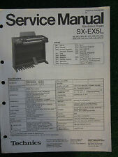 Technics Electronic Organ Service Manual SX EX5L Wiring Schematics Parts List