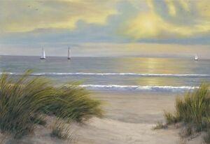 SEASCAPE-BEACH-ART-PRINT-Gentle-Breeze-by-Diane-Romanello-38x28-Coastal-Poster