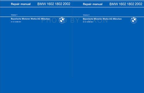 BWM 1600 1602 OEM Repair Manual 1975 1974 1973 1972 1971 1970 1969 1968 1967