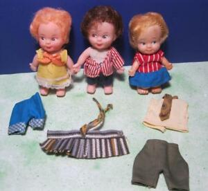 LOT-vintage-PEE-WEE-DOLLS-SWEET-APRIL-BOY-NECK-TIE-CLONE-WITH-CLOTHES-HONG-KONG