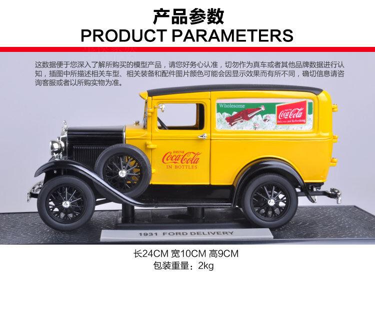 1-18 1931 FORD Delivery Model A Coca (L)