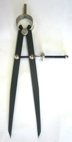 """Precision Layout /& Turning Black New 8/"""" Wing Divider Caliper with Spring Joint"""