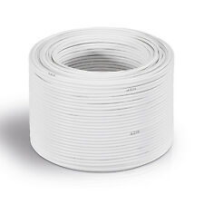 30 m Lautsprecher-Kabel 4 mm² weiß | Boxenkabel | %100 CCA Kupfer 80 Adern