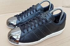 ADIDAS SUPERSTAR 80'S TRAINERS ALL BLACK WITH BLACK METAL TOE IN SIZE 5 UK RARE
