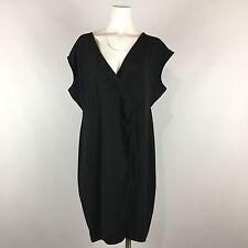 Lane Bryant Crossover Dress Little Black Plus Size 18 20 Solid Career Cap Sleeve