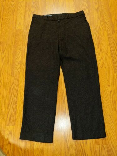 POLO RALPH LAUREN ~ MENS GRAY WOOL BLEND FLAT FRON