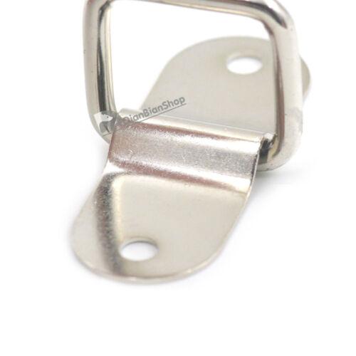 Double Cap Rivet Metal Arch Bridge Dee Ring Buckle Bag Strap Webbing DIY Craft