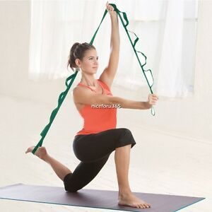 Yoga-Pilates-Gym-Stretch-Out-Strap-with-Exercise-Booklet-Fitness-Training-Belt