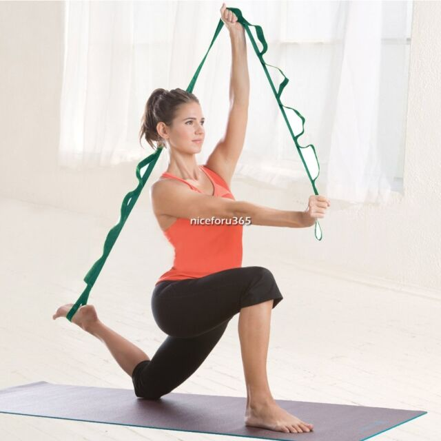 Yoga Stretch Out Strap with Instructional Exercise Booklet - Green L