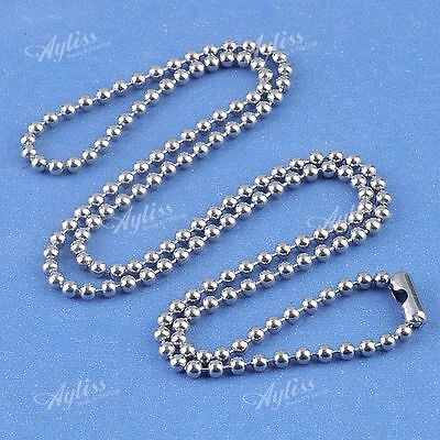 """1pc 19""""L Stainless Steel 2mm Ball Bead Chain Necklace For Pendant Punk"""