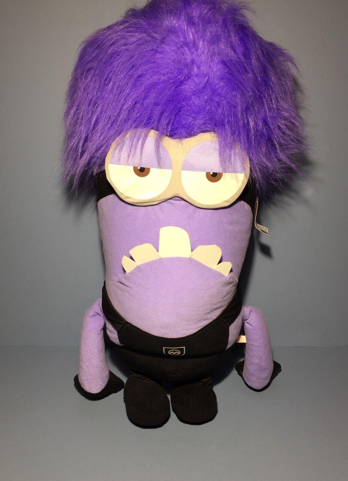 Despicable Me 2 Plush Toy 32 32 32  Evil Purple Two Eye Minion Stuffed Animal - NEW 44b3b2