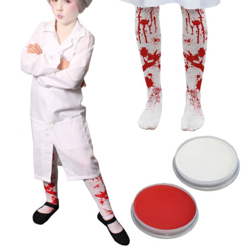 KIDS EVIL DENTIST COSTUME LAB COAT FACEPAINT TIGHTS SCHOOL BOOK WEEK FANCY DRESS