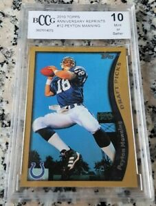 PEYTON-MANNING-2010-Topps-Reprint-1998-Rookie-Card-RC-BGS-BCCG-10-HOF-HOT