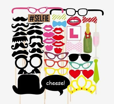 43pcs 2016 Party Masks Photo Booth Props Mustache On A Stick Wedding Party Favor