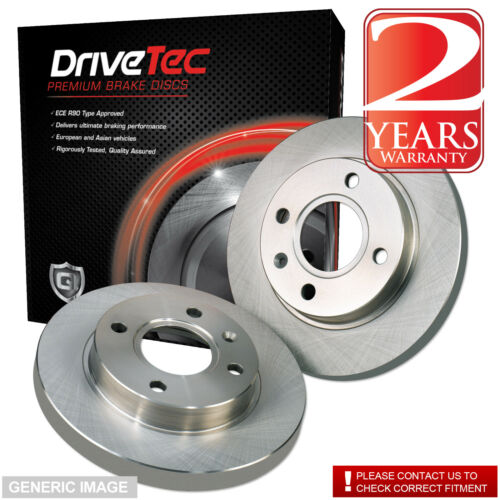 Merc C270 W203 2.7 SLN C 270 CDI 168 Drivetec Rear Brake Discs 278mm Solid