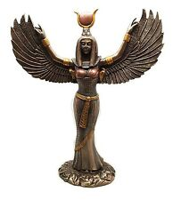 Egyptian Theme Isis With Open Wings Goddess of Magic and Nature Statue Sculpture