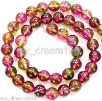 Genuine 4mm Natural Colorful Watermelon Tourmaline Gemstone Loose beads 15''
