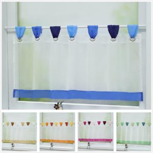 Details zu Gardinen Küche Scheibengardinen Modern Fenstergardine  Bistrogardine Weiß Voile