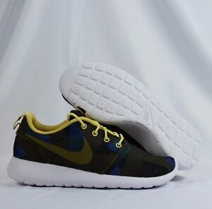 buy online 9457d 94c4a Details about Nike Roshe One 845009-300 Pattern Olive Flak Black Womens  Running Shoes