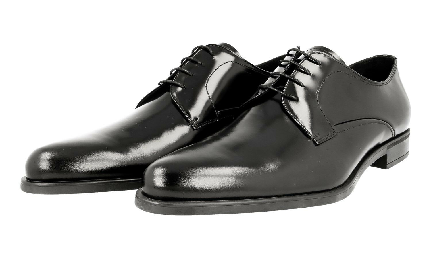 AUTHENTIC LUXURY PRADA BUSINESS SHOES 2EE146 BLACK NEW 9,5 43,5 44