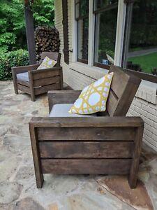 Outdoor Furniture. Handmade Wooden Patio, Porch Or Backyard Chairs. Customizable   EBay