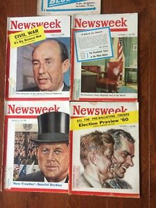 Lot 4 NEWSWEEK November 7, 14, 1960 January 23,, March 27, 1961 Eisenhower JFK.