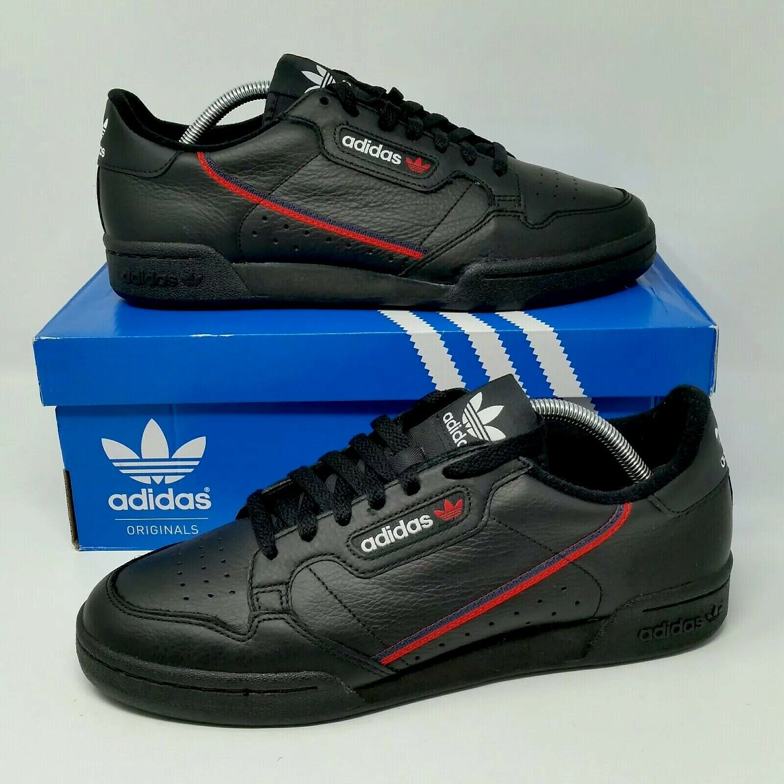 NEW Adidas Originals Continental 80 (Men's Size 9.5) Leather Sneakers Black
