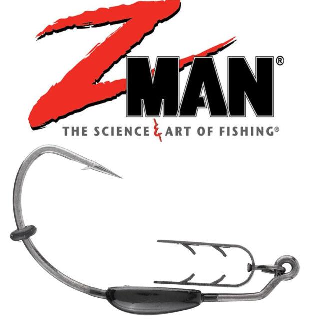 Black Package of 3 1//8 oz Z-man EZ Keeperz Hook Size 5//0