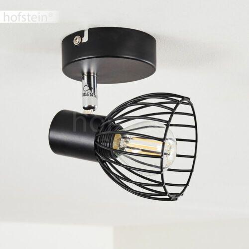 schwarze Decken Lampe Flur Strahler verstellbar Wohn Schlaf Zimmer Beleuchtung