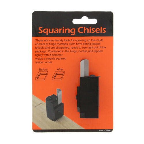 DCT Wood Corner Chisel Squaring Tool for Squaring Hinge Recess /& Square Mortise