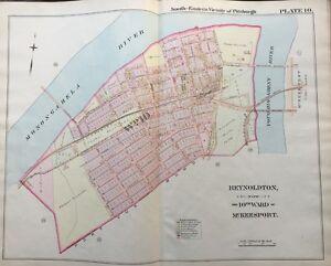 ORIGINAL 1900 McKEESPORT, PITTSBURGH PA, REYNOLDTON, G.M. HOPKINS ...