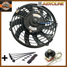 """9"""" 80w Aeroline® Electric Radiator 12v Cooling Fan With Thermostat UNIVERSAL"""