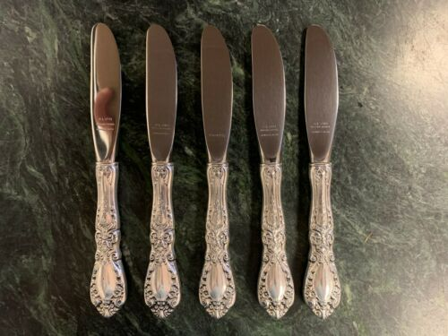 Prince Eugene by Alvin 5 Piece Sterling Silver Butter Spreaders Ships Free