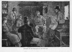 1881-Antique-Print-IRELAND-Irish-Land-Act-Discussion-Tenants-20