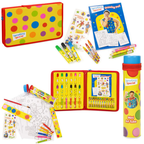 Mr Tumble Something Special Drawing Art Set Painting Colouring Crayons Cbeebies