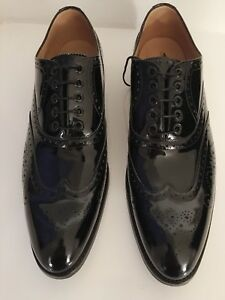 Hawkes Gieves en Chaussures cuir 10 noir verni 44 wqw1AH6X