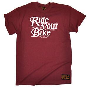 Cycling-T-Shirt-Funny-Novelty-Mens-tee-TShirt-Ride-Your-Bike