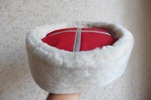 b3b2a9522c7 Image is loading Genuine-handmade-white-sheepskin-cossack-kubanka-papakha- hat