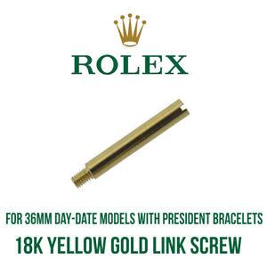 ROLEX-18k-Oro-Giallo-Presidente-Braccialetto-Collegamento-Perno-a-Vite-per-36mm-Day-Date
