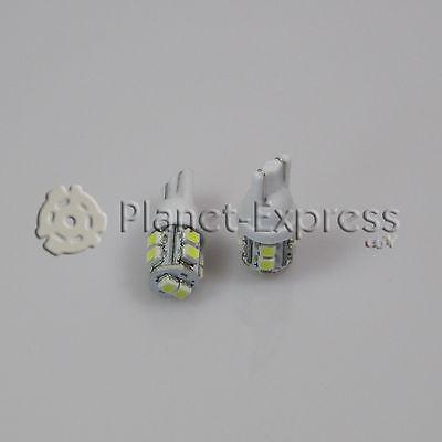 2 x Bombillas 10 LED SMD T10 W5W Coche Posicion, lectura, matricula Blanco Xenon