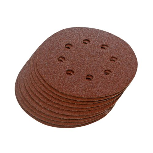 Palm Orbital Sander Pads 6 x Mixed Grit Hook and Loop 125mm Sanding Disc Sheets