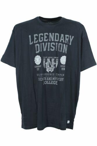 Kitaro T shirt homme manches courtes col rond coton bleu foncé plusgröße grande taille